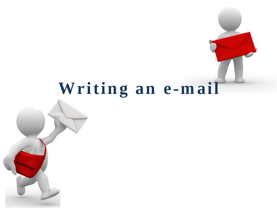 Writing an e-mail