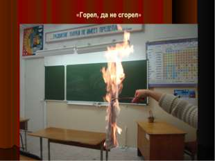 «Горел, да не сгорел»
