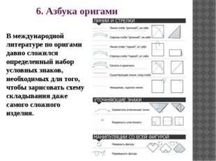 6. Азбука оригами В международной литературе по оригами давно сложился опреде