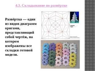 4.3. Складывание по развёртке Развёртка — один из видов диаграмм оригами, пре