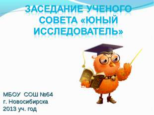 МБОУ СОШ №64 г. Новосибирска 2013 уч. год