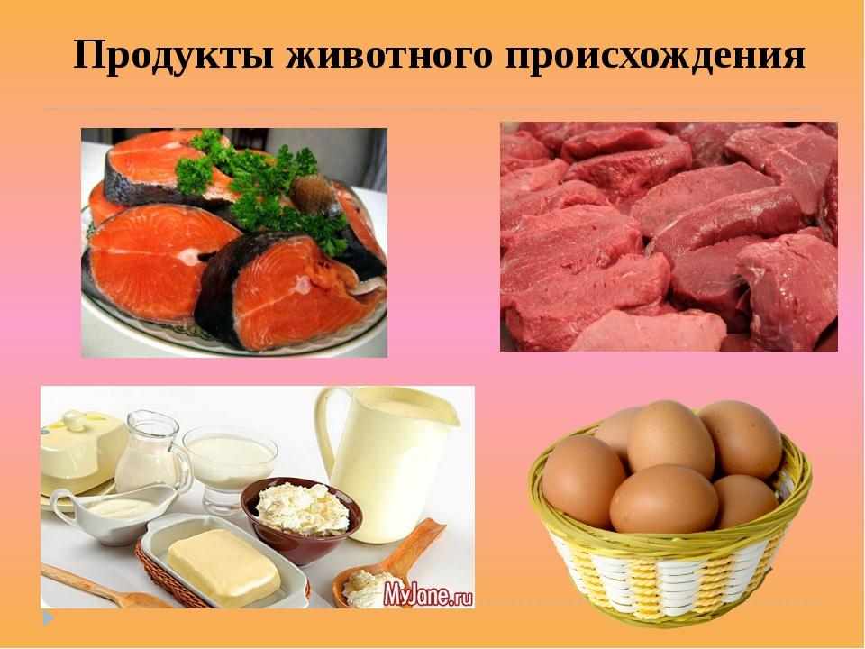 Продукты животного происхождения