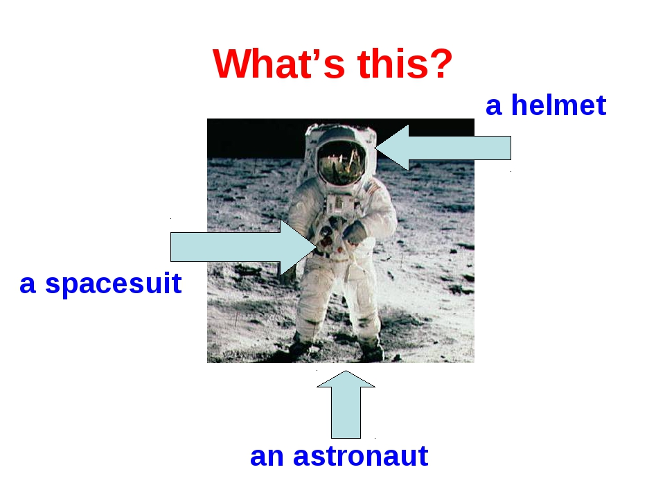 What's this? a helmet a spacesuit an astronaut