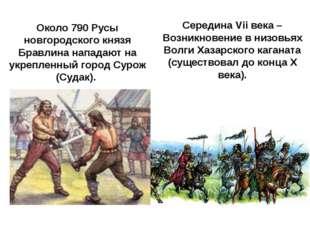 Середина VII века — Возникновение в низовьях ВолгиХазарского каганата(сущес