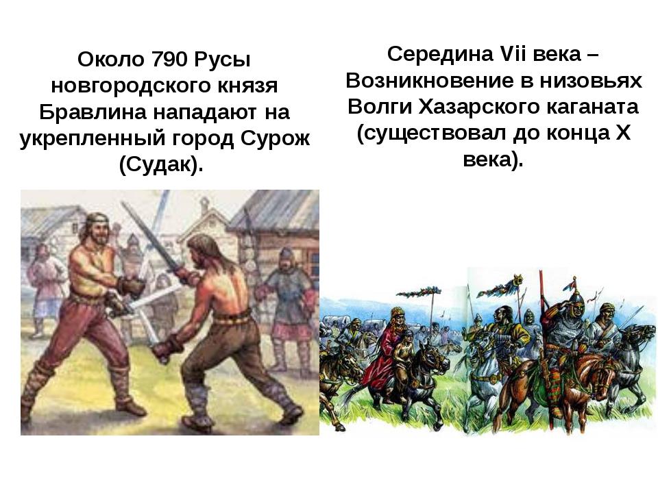 Середина VII века — Возникновение в низовьях ВолгиХазарского каганата(сущес...