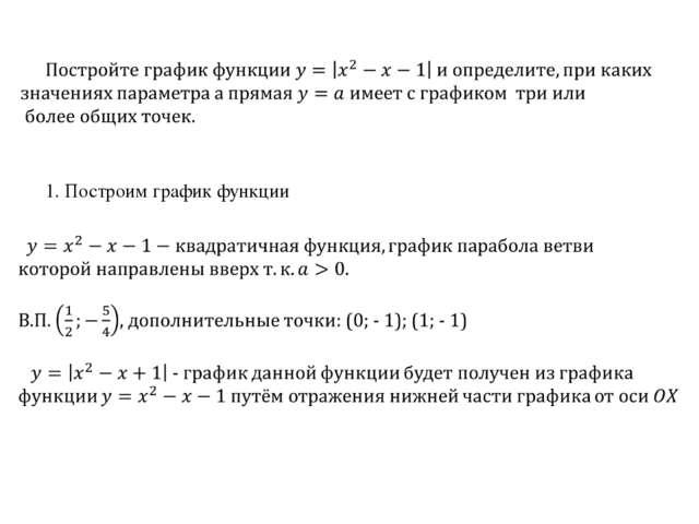 1. Построим график функции