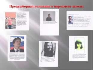 Предвыборная компания в парламент школы