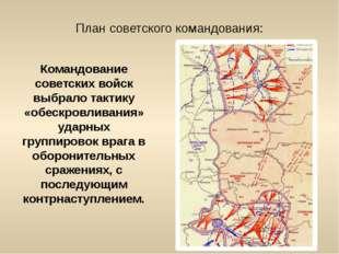 План советского командования: Командование советских войск выбрало тактику «о
