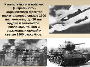 К началу июля в войсках Центрального и Воронежского фронтов насчитывалось свы