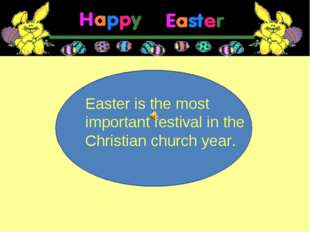 Easter is the most important festival in the Christian church year.