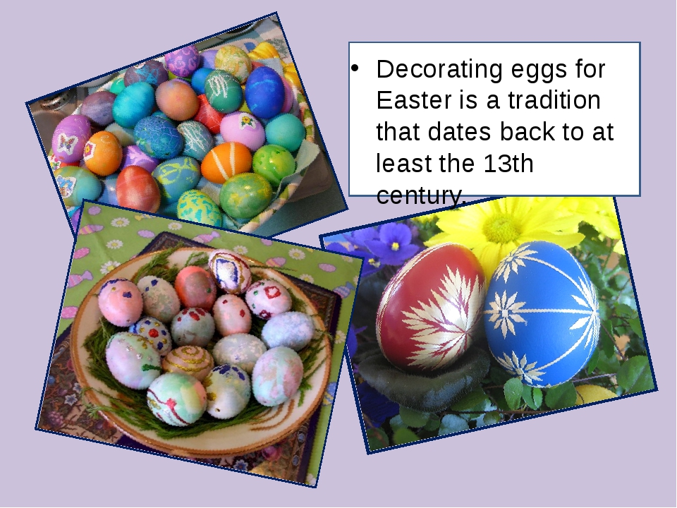 Decorating eggs for Easter is a tradition that dates back to at least the 13t...