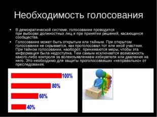Необходимость голосования Вдемократической системе, голосование проводится п