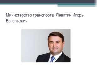 Министерство транспорта. Левитин Игорь Евгеньевич