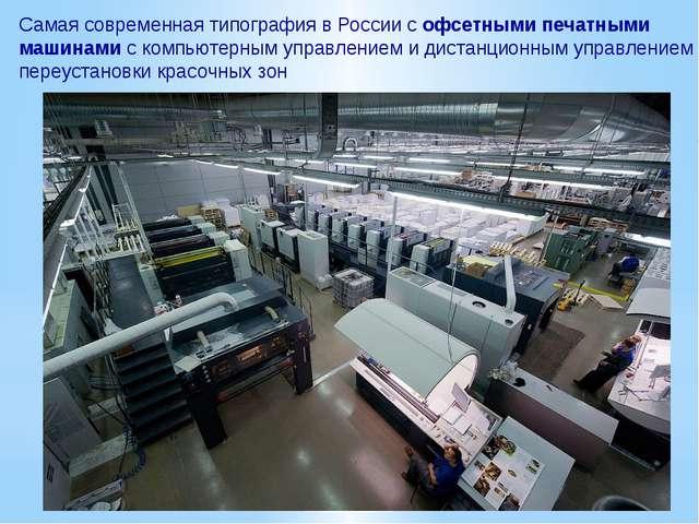 Самая современная типография в России с офсетными печатными машинами с компью...