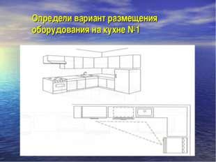 Определи вариант размещения оборудования на кухне №1