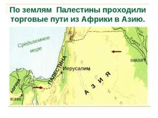 А З И Я По землям Палестины проходили торговые пути из Африки в Азию.