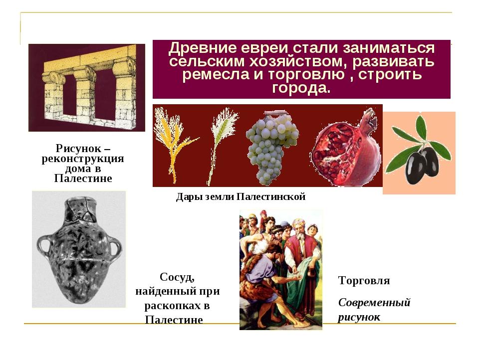Что нового появилось в жизни древних евреев? Рисунок –реконструкция дома в Па...