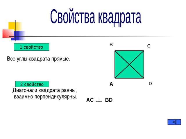 Все углы квадрата прямые. Диагонали квадрата равны, взаимно перпендикулярны....