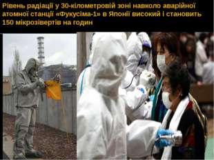 Рівень радіації у 30-кілометровій зоні навколо аварійної атомної станції «Фук