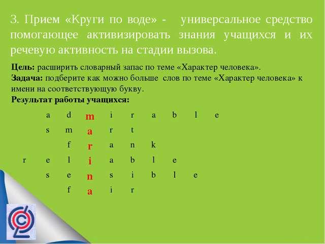 3. Прием «Круги по воде» - универсальное средство помогающее активизировать...