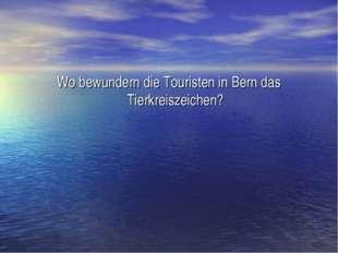 Wo bewundern die Touristen in Bern das Tierkreiszeichen?