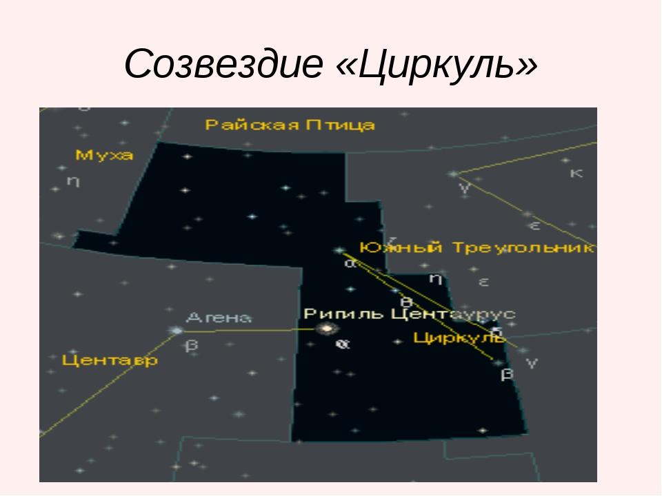 Созвездие «Циркуль»