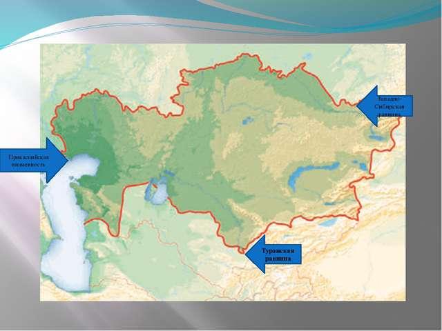 Прикаспийская низменность Туранская равнина Западно-Сибирская равнина