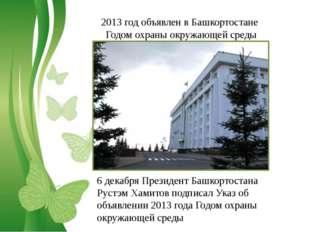 Free Powerpoint Templates 2013 год объявлен в Башкортостане Годом охраны окру