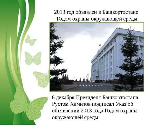 Free Powerpoint Templates 2013 год объявлен в Башкортостане Годом охраны окру...