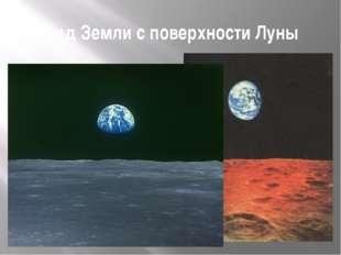 Вид Земли с поверхности Луны