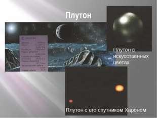 Плутон Плутон с его спутником Хароном Плутон в искусственных цветах