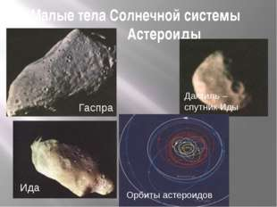 Малые тела Солнечной системы Астероиды Орбиты астероидов Ида Дактиль – спутни