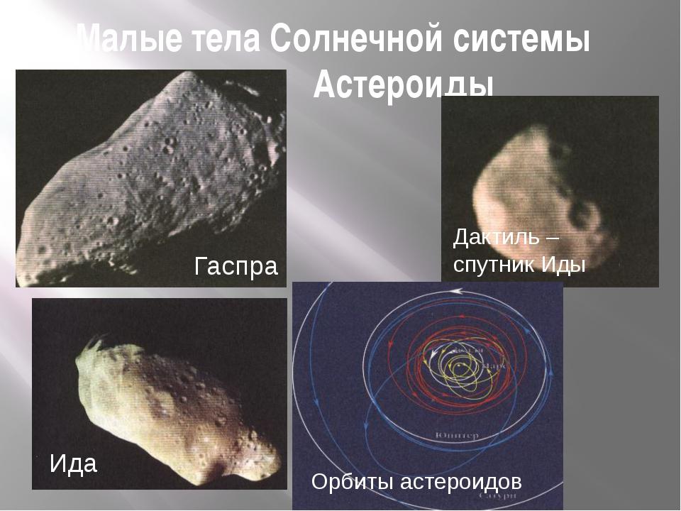 Малые тела Солнечной системы Астероиды Орбиты астероидов Ида Дактиль – спутни...