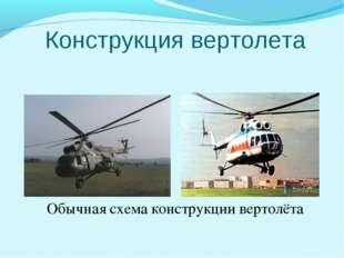 Конструкция вертолета Обычная схема конструкции вертолёта
