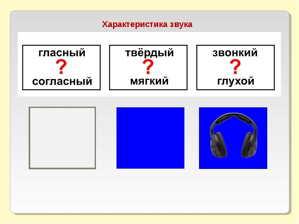Характеристика звука