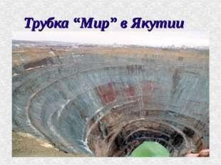 """Трубка """"Мир"""" в Якутии"""