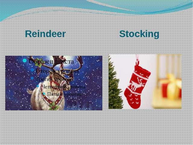 Reindeer Stocking
