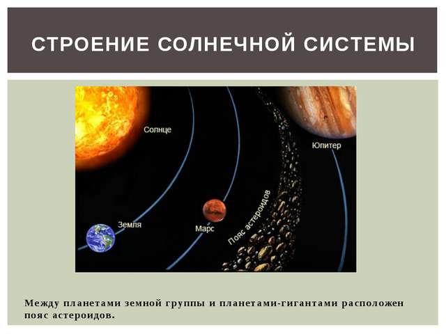 Между планетами земной группы и планетами-гигантами расположен пояс астероид...