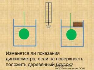 Изменятся ли показания динамометра, если на поверхность положить деревянный