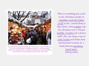 There is everything you want at the Christmas market at Columbus circle [kә`l