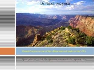 Гранд-Каньон - один из старейших национальных парков США Grand Canyon is one