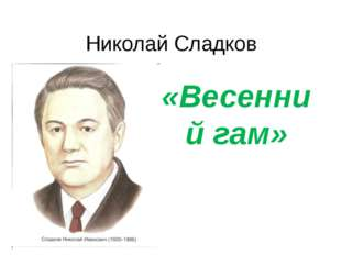 Николай Сладков «Весенний гам»