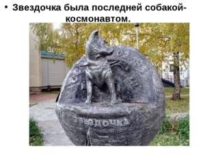 Звездочка была последней собакой-космонавтом.