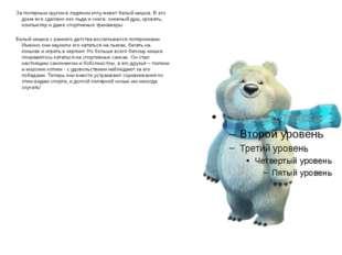 За полярным кругом в ледяном иглу живет белый мишка. В его доме все сделано