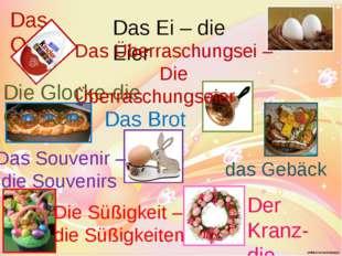 Das Ostern Das Ei – die Eier Das Brot Die Glocke-die Glocken Der Kranz- die K