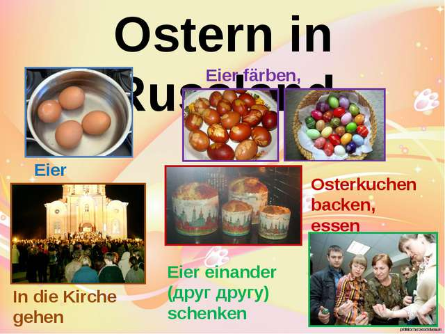 Ostern in Russland Eier kochen Eier färben, bemalen In die Kirche gehen Oster...