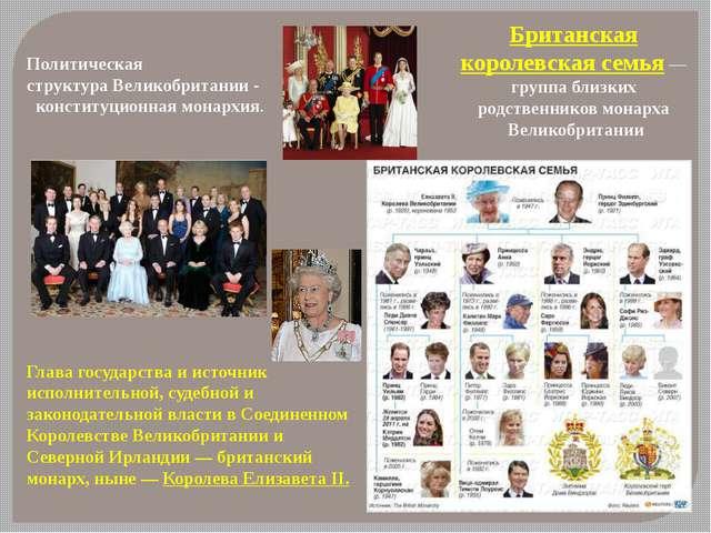 Британская королевская семья— группа близких родственников монарха Великобр...
