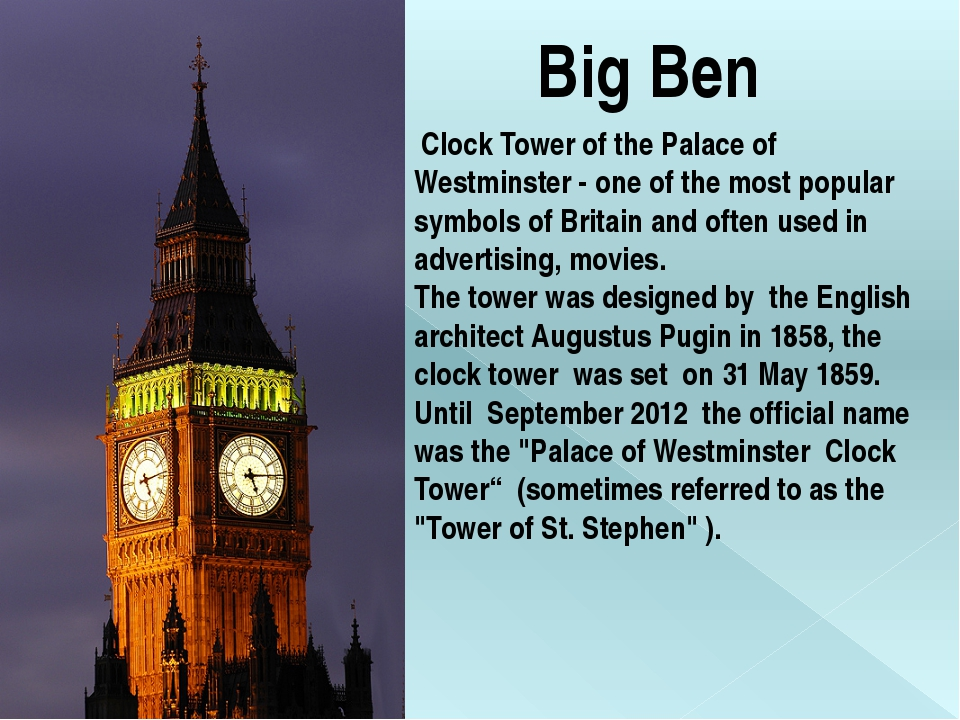 Big Ben Clock Tower of the Palace of Westminster - one of the most popular sy...