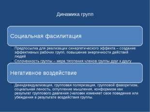 Динамика групп