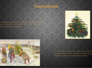 Tannenbaum Der Brauch, zum Heiligabend den Tannenbaum zu schmücken, kam aus D